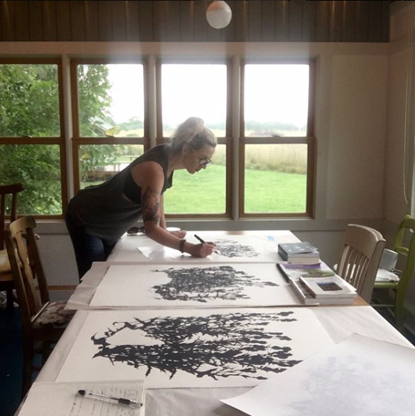 Prairieside Cottage Artist Residency  2018, Matfield Green, KS