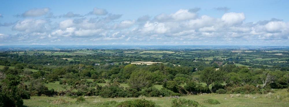The view over Devon