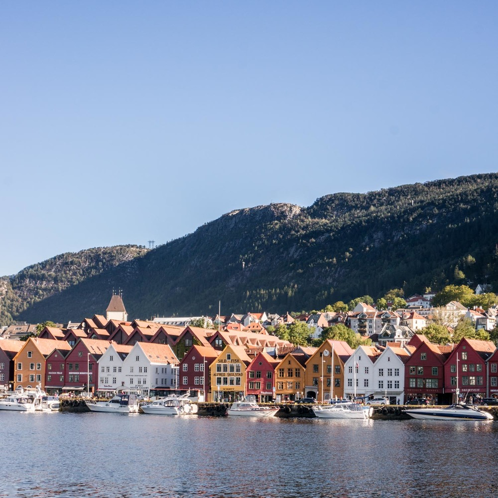Bryggen - UNESCO listed buildings filled with cute shops