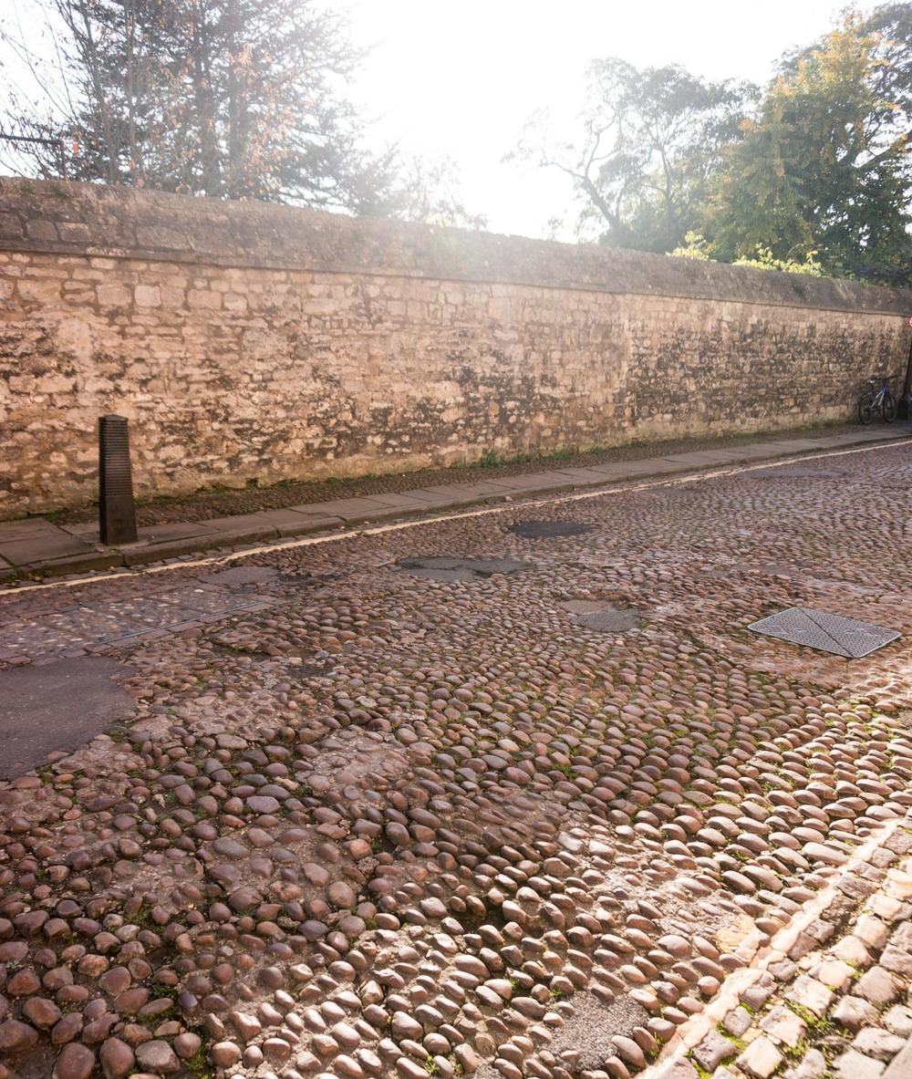 People were riding their bikes along these cobbles! Would have been a seriously bumpy ride!