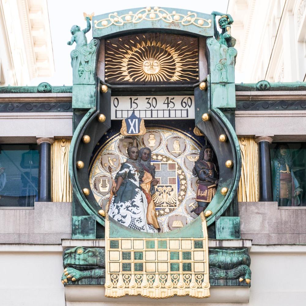 Anker Art Nouveau clock