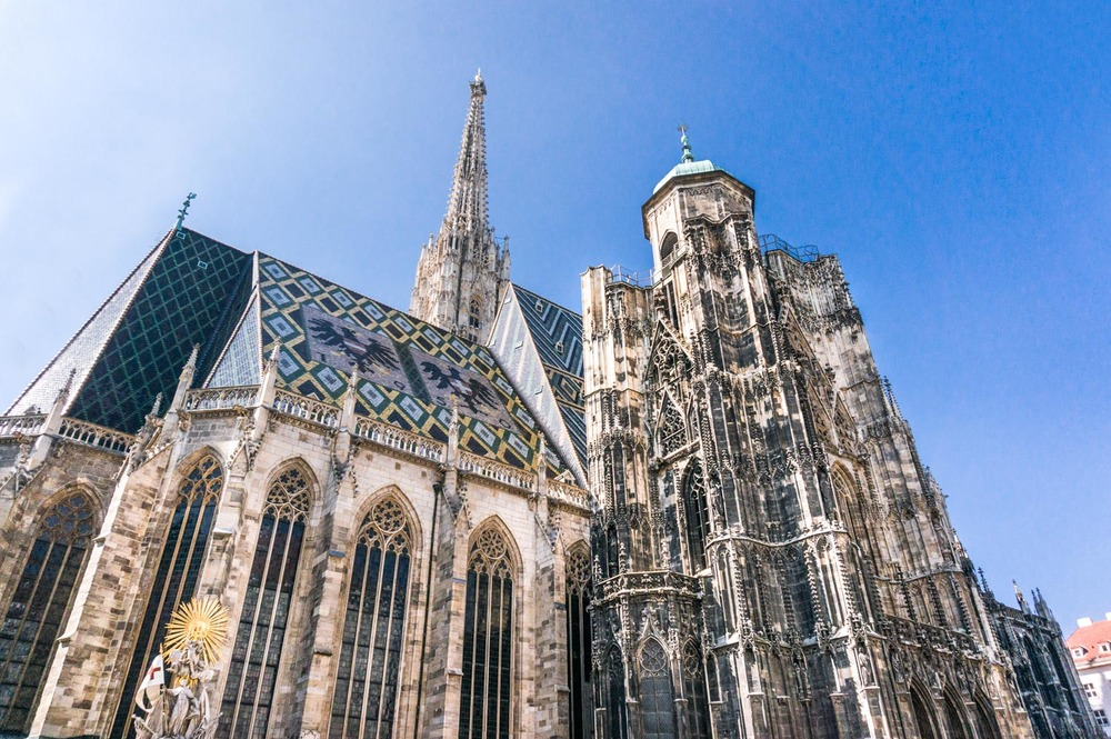 St Stephen's Cathedral. Lots of hype and tourists but definitely not the best church in Vienna by far.