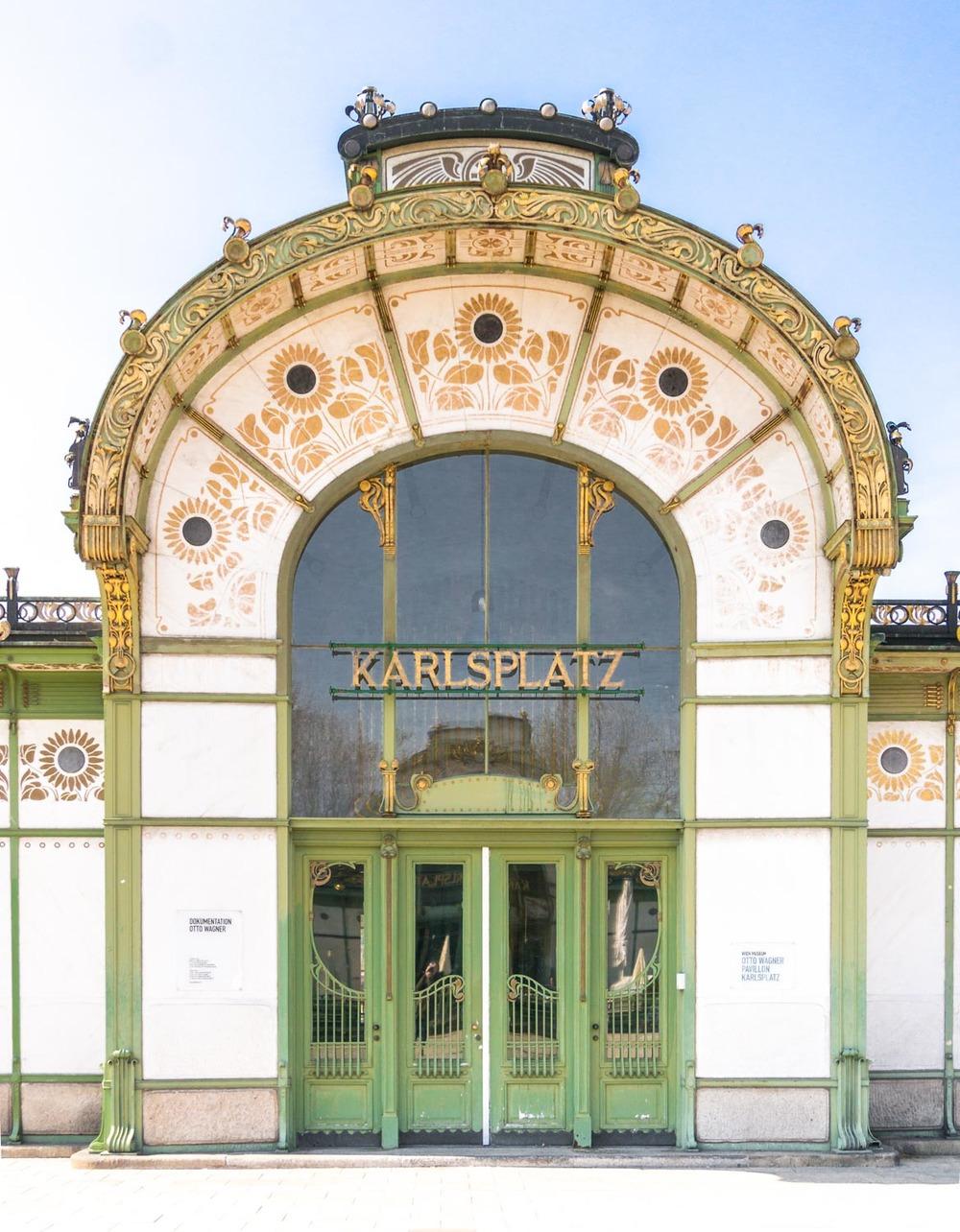 vienna karlplatz art nouveau metro station