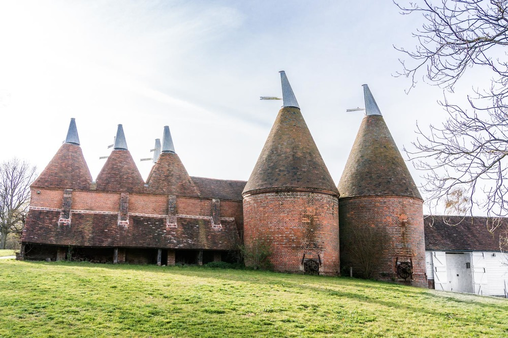 This is an oast house, where they used to dry hops