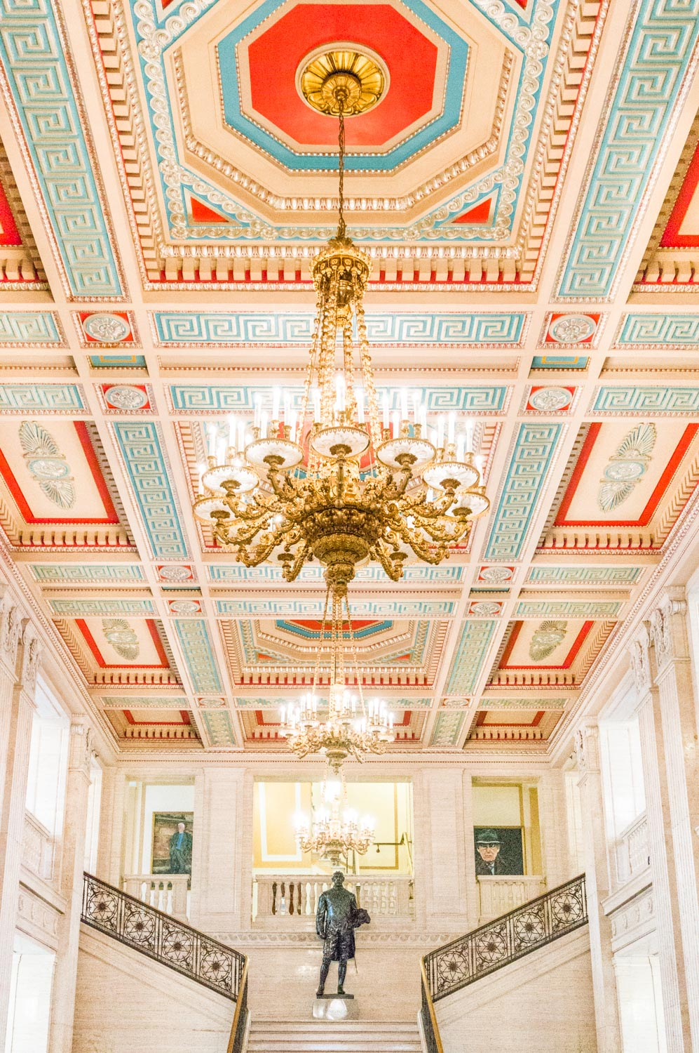 The absolutely beautiful Art Deco interior of Stormont.