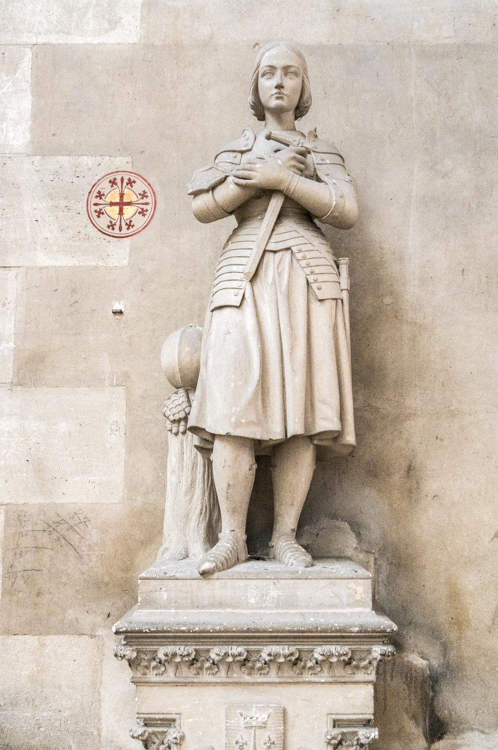 One of many Jeanne d'Arc statues in the churches of France.