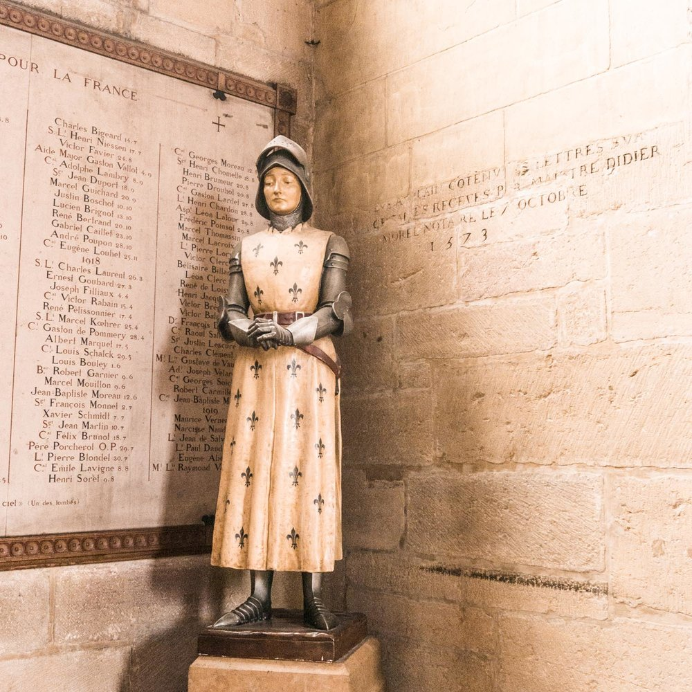 Joan of Arc is everywhere in these parts of France