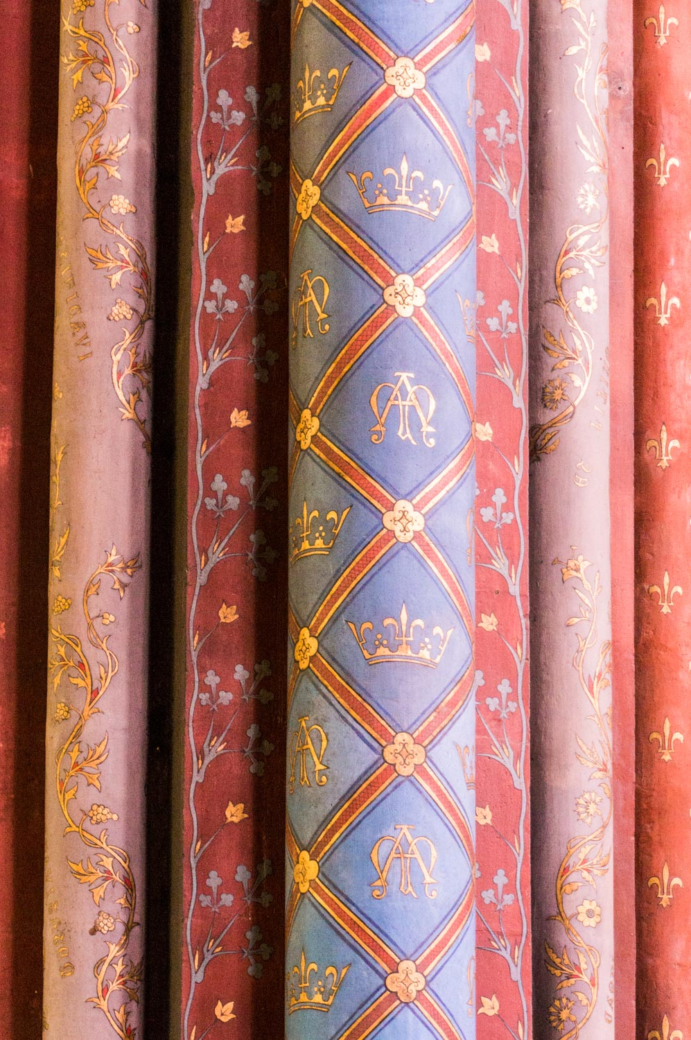 The amazingly colourful columns of the church