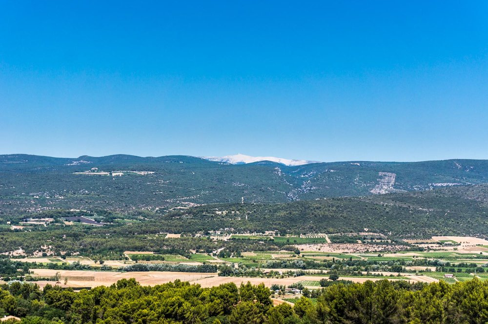 The view over to Mont Ventoux