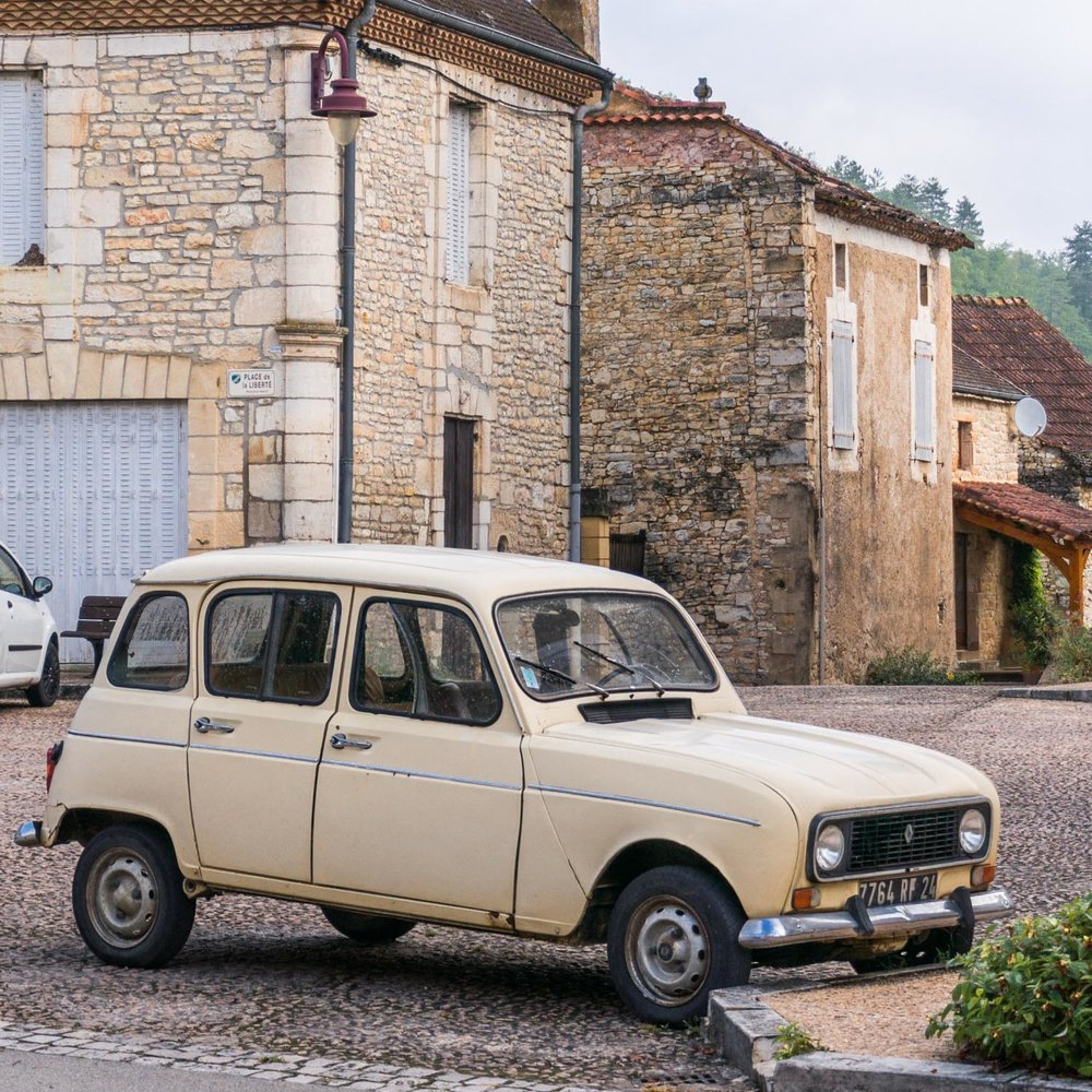These cars, a Renault Clan, were everywhere in rural France. They were quite slow cars - I got stuck behind a few of them!