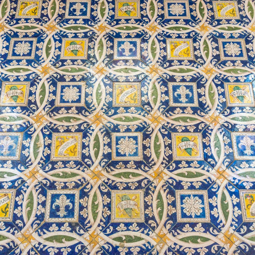 The floor of the chapel in the chateau