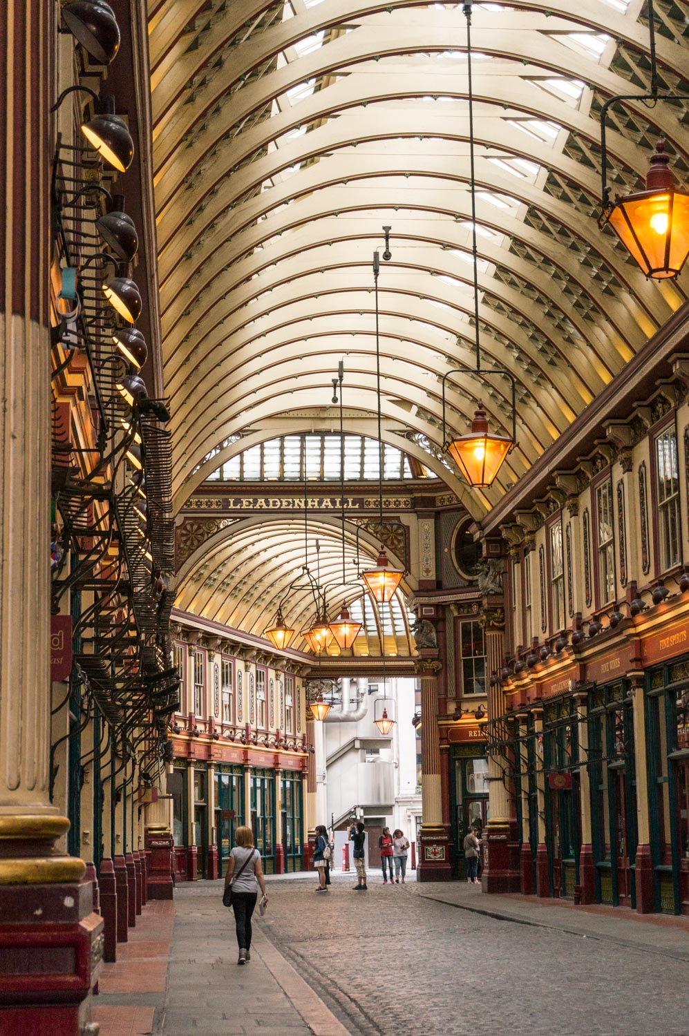Leadenhall Market looking decidedly quieter than usual!