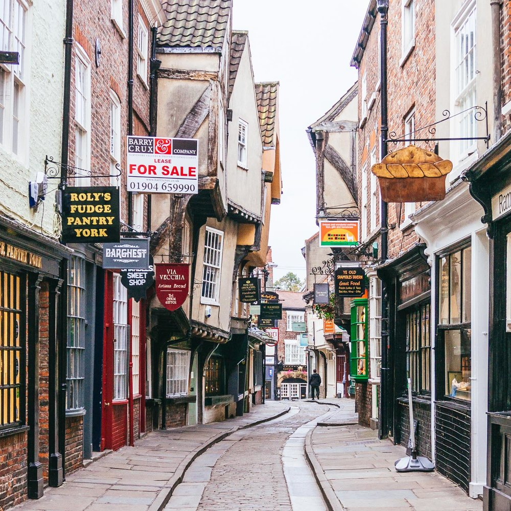 The Shambles at 8am on a Sunday morning