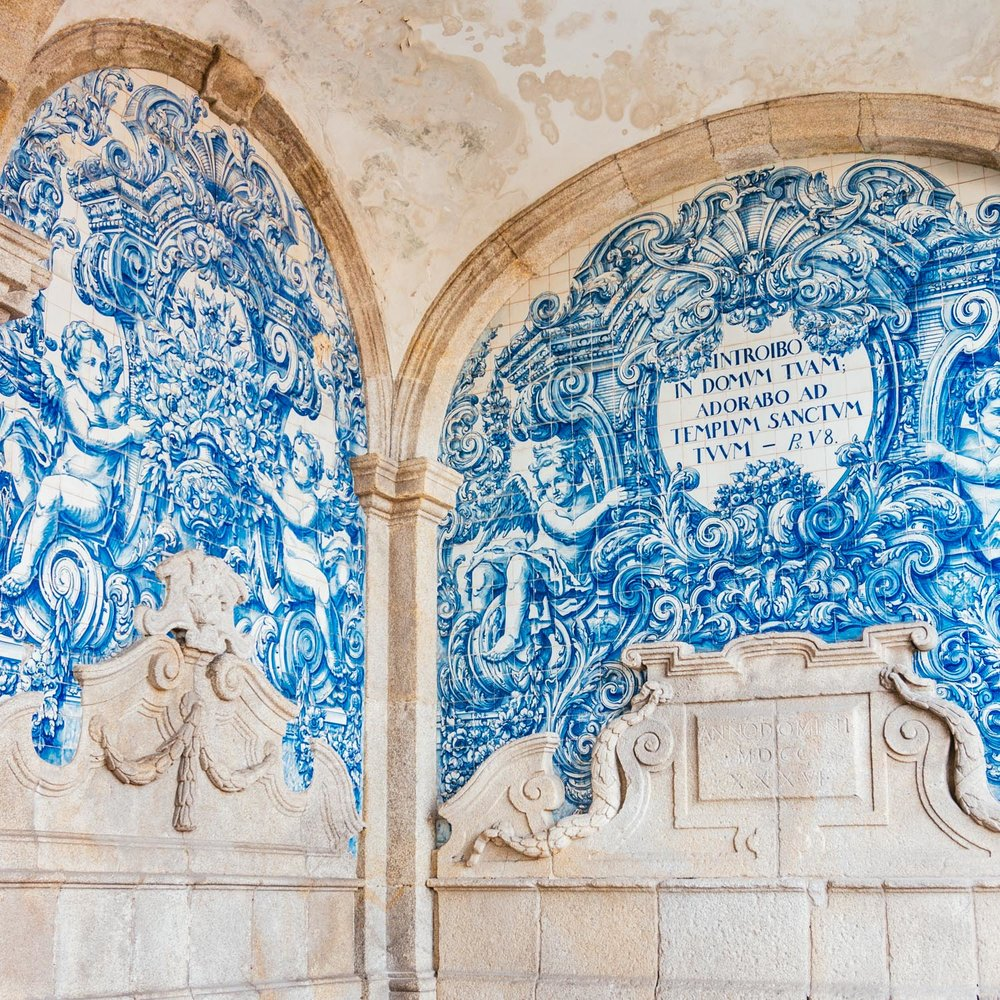 These azulejos are beside the Porto cathedral