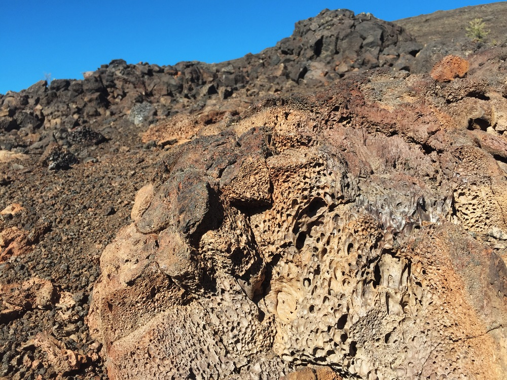 Volcanic cinder rocks in Craters of the Moon, Idaho
