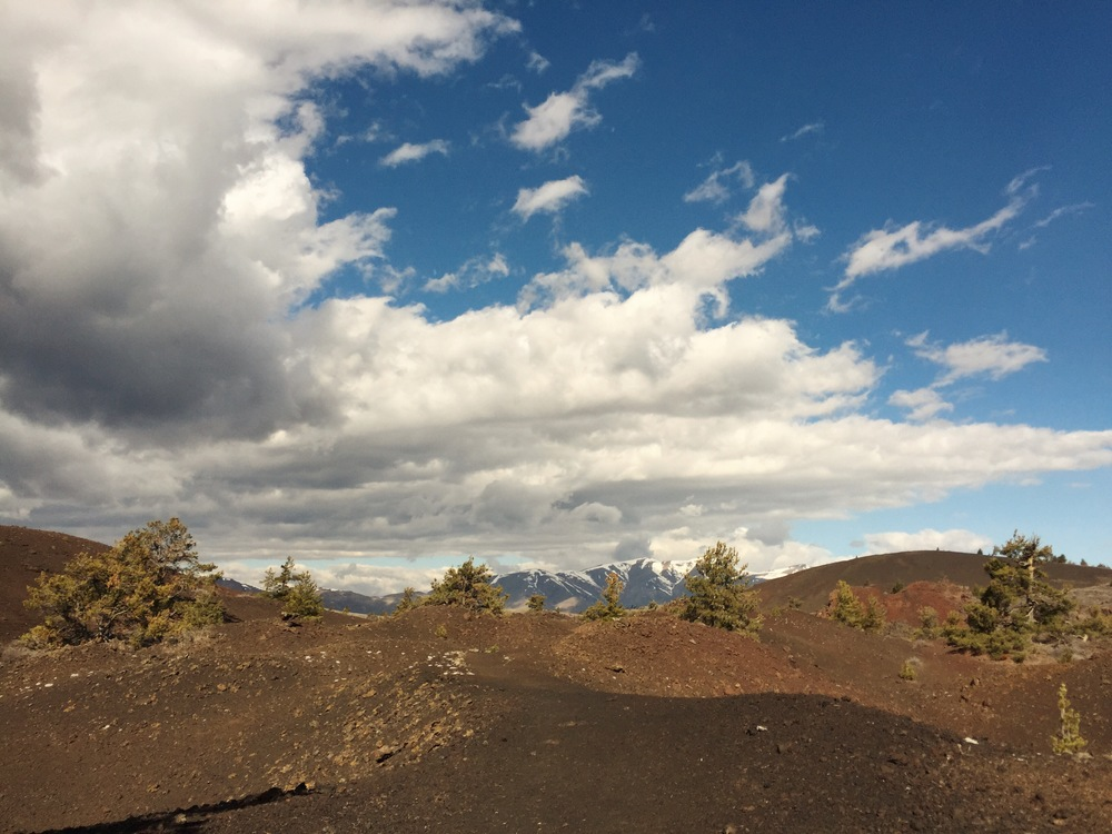 The view along the Craters of the Moon Wilderness Trail