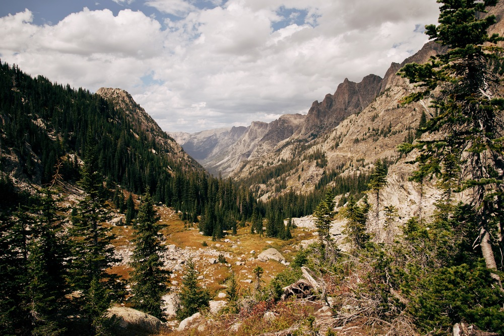 The view from the top of Vista Pass - seen while backpacking the Wind River Range, Wyoming