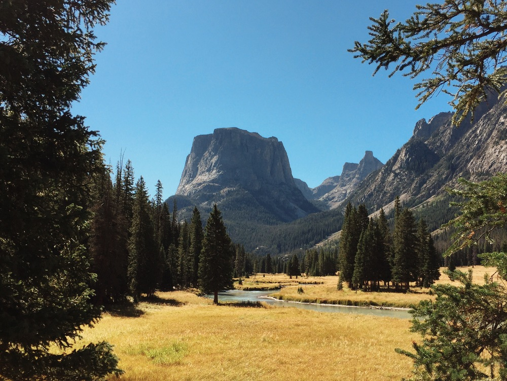 Squaretop Mountain and the Green River, Wind River Range, Wyoming