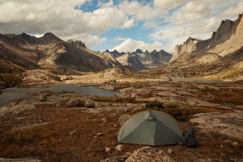 Titcomb Basin - seen backpacking the Wind River Range, Wyoming