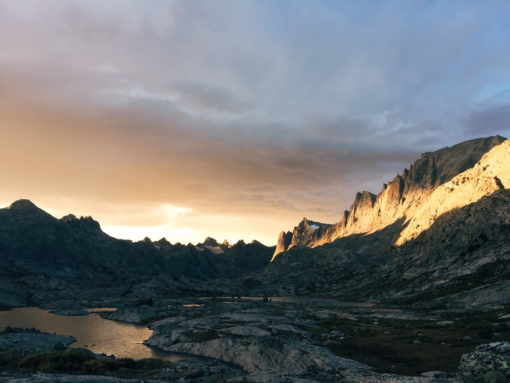 Sunset in Titcomb Basin, Wind River Range, Wyoming