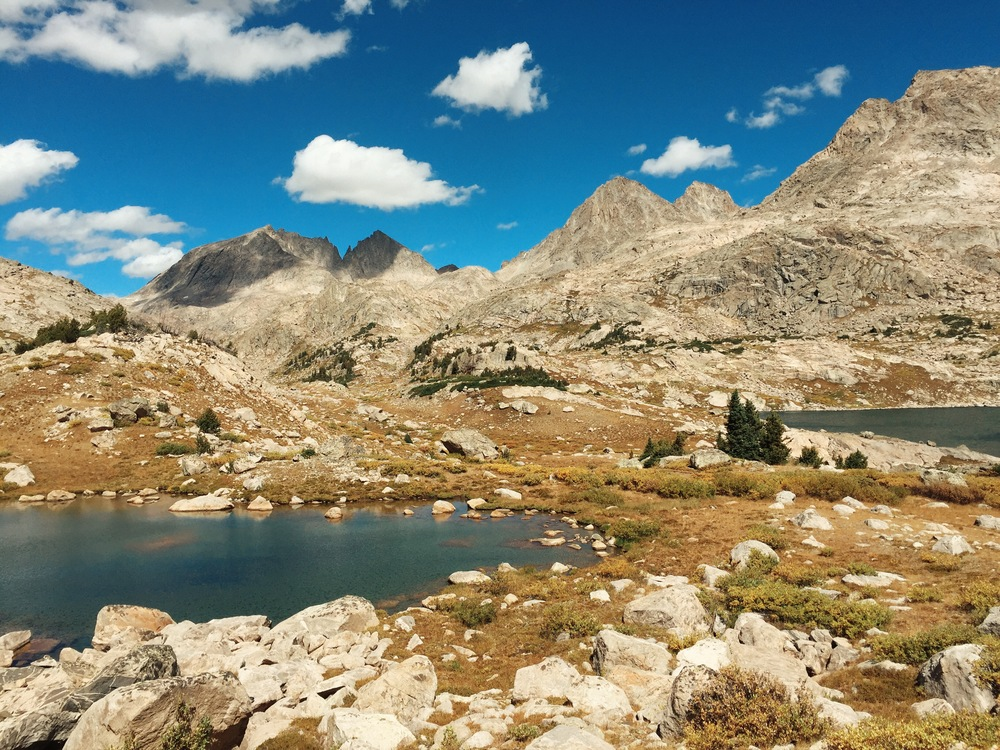 Lunch spot across from Upper Jean Lake, Wind River Range, Wyoming