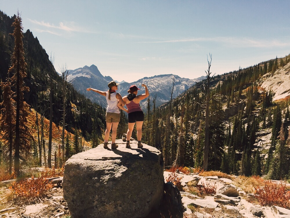 Wild wilderness women, Selway-Bitterroot Wilderness, Wyoming