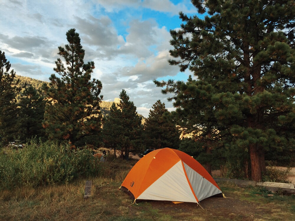 Camping in Estes Park, Colorado