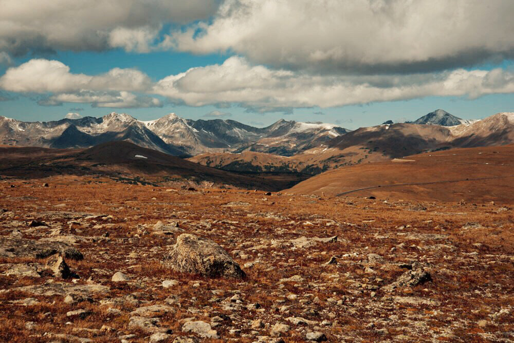 The view from 12,000 ft elevation in Rocky Mountain National Park, Colorado
