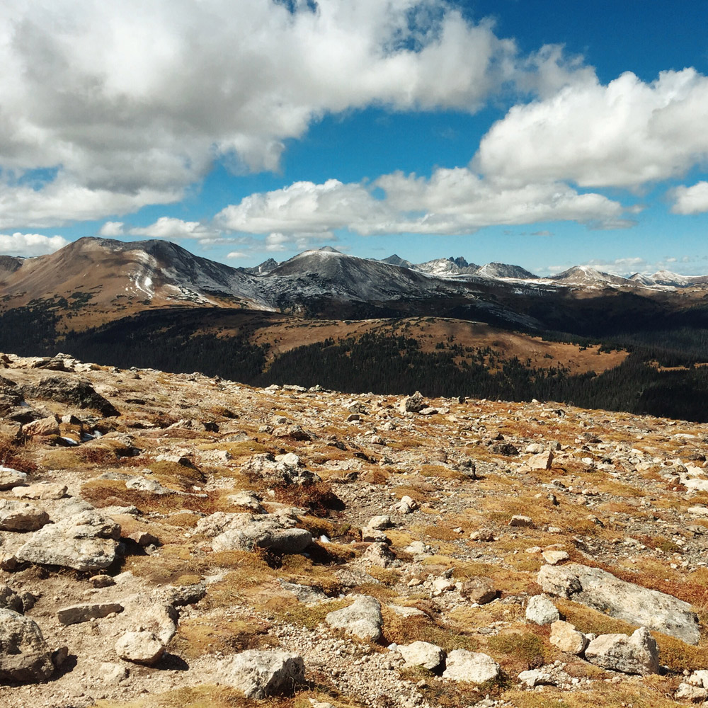 Alpine tundra and mountains in Rocky Mountain National Park, Colorado