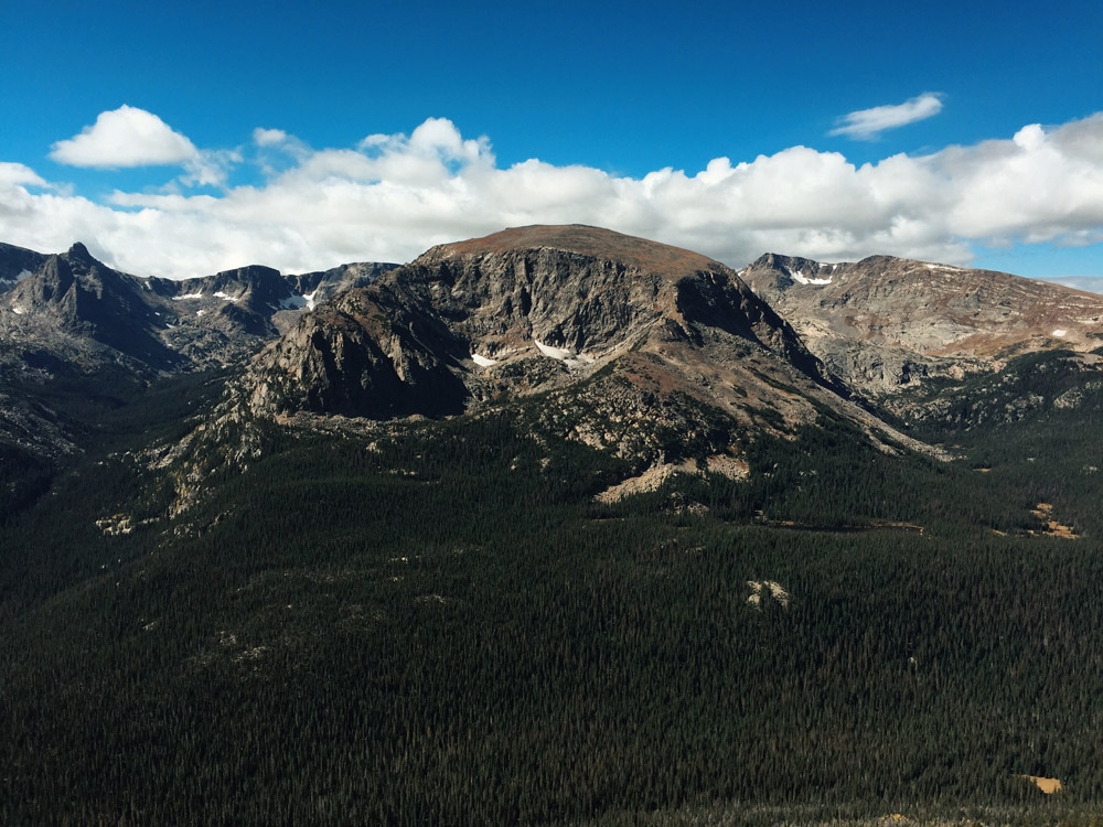 Mountain views in Rocky Mountain National Park, Colorado