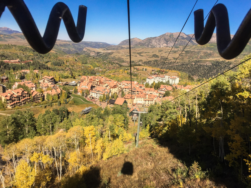 Riding the Telluride Tram in autumn
