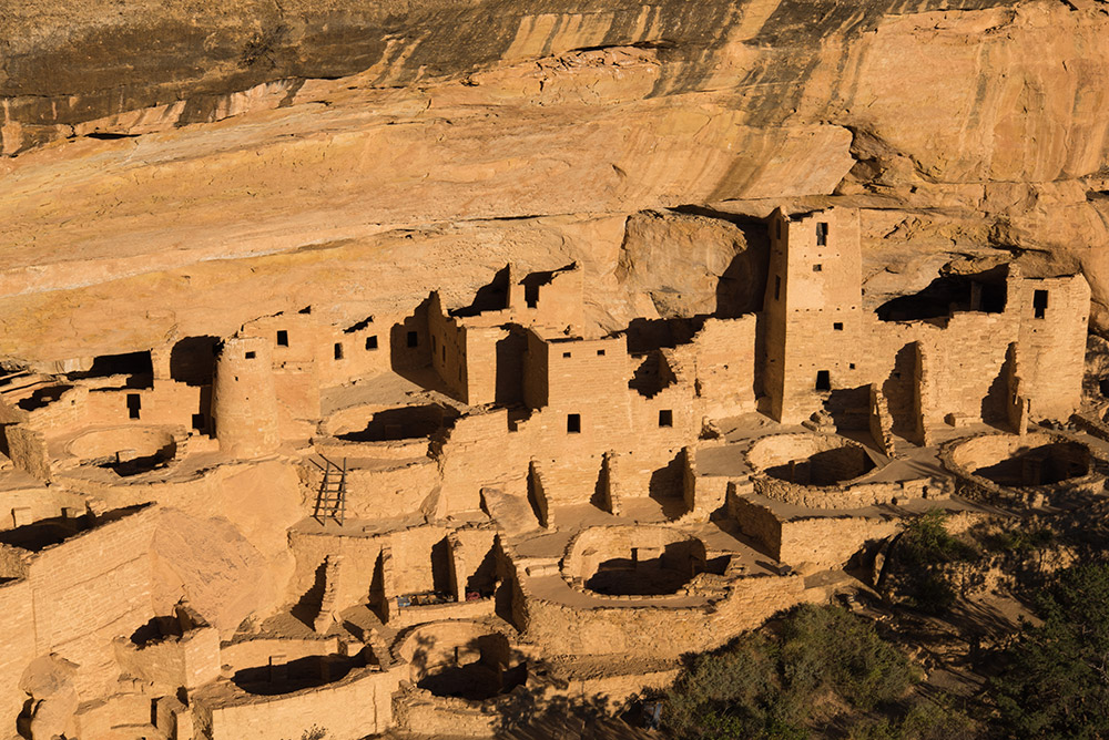Cliff Palace, Mesa Verde. Sadly, it was closed to exploration inside the dwellings for the season.