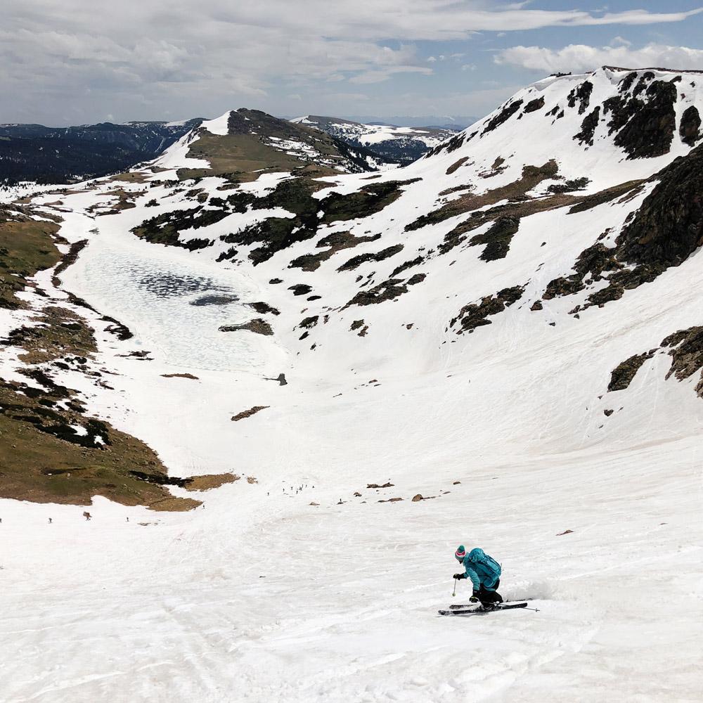 skiing Gardiner Headwall