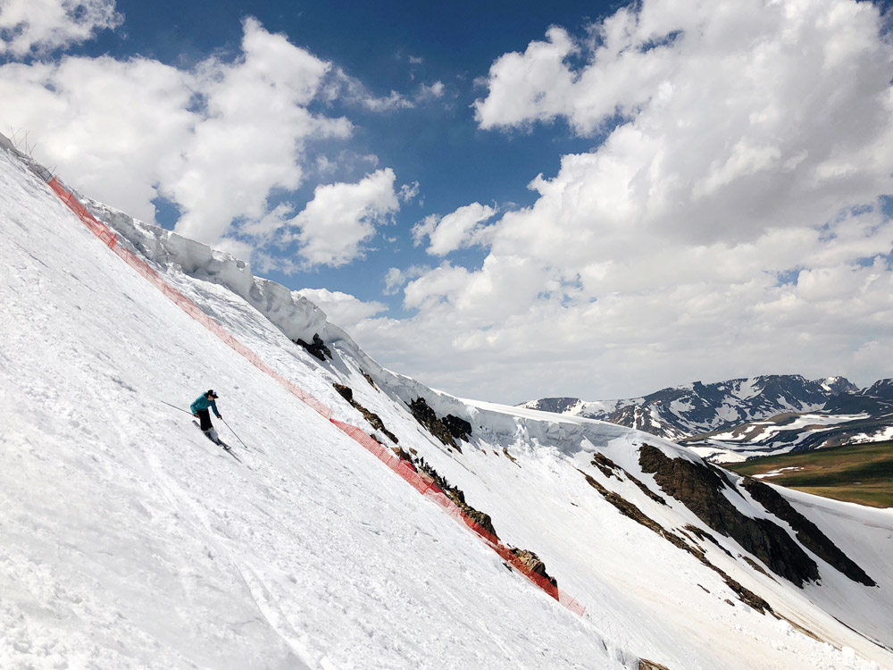 skiing Beartooth Basin in June 2018