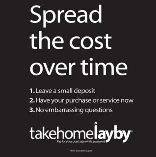 I am so excited to be using the new Take Home Lay-By service for my clients. It is great if you are booking last minute and need to gift for an anniversary, valentines day, Christmas or any other reason you could think of! Repayments can be made of as much as 12 months and you get your stunning products now.