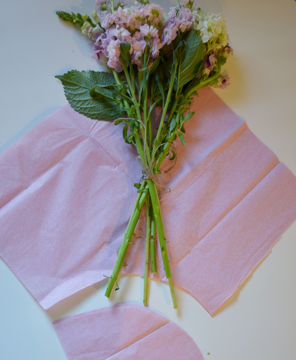 Simple Floral Bouquet DIY For New Baby