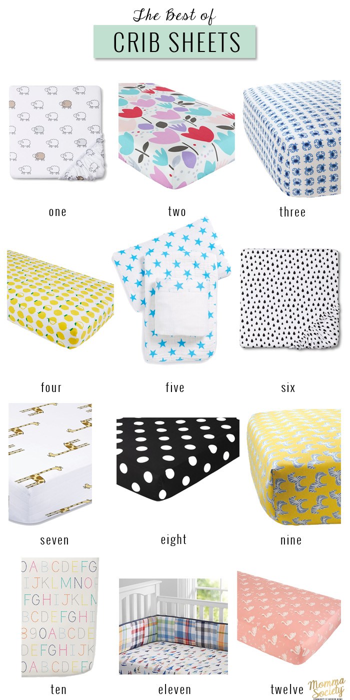 the best of crib sheets momma society