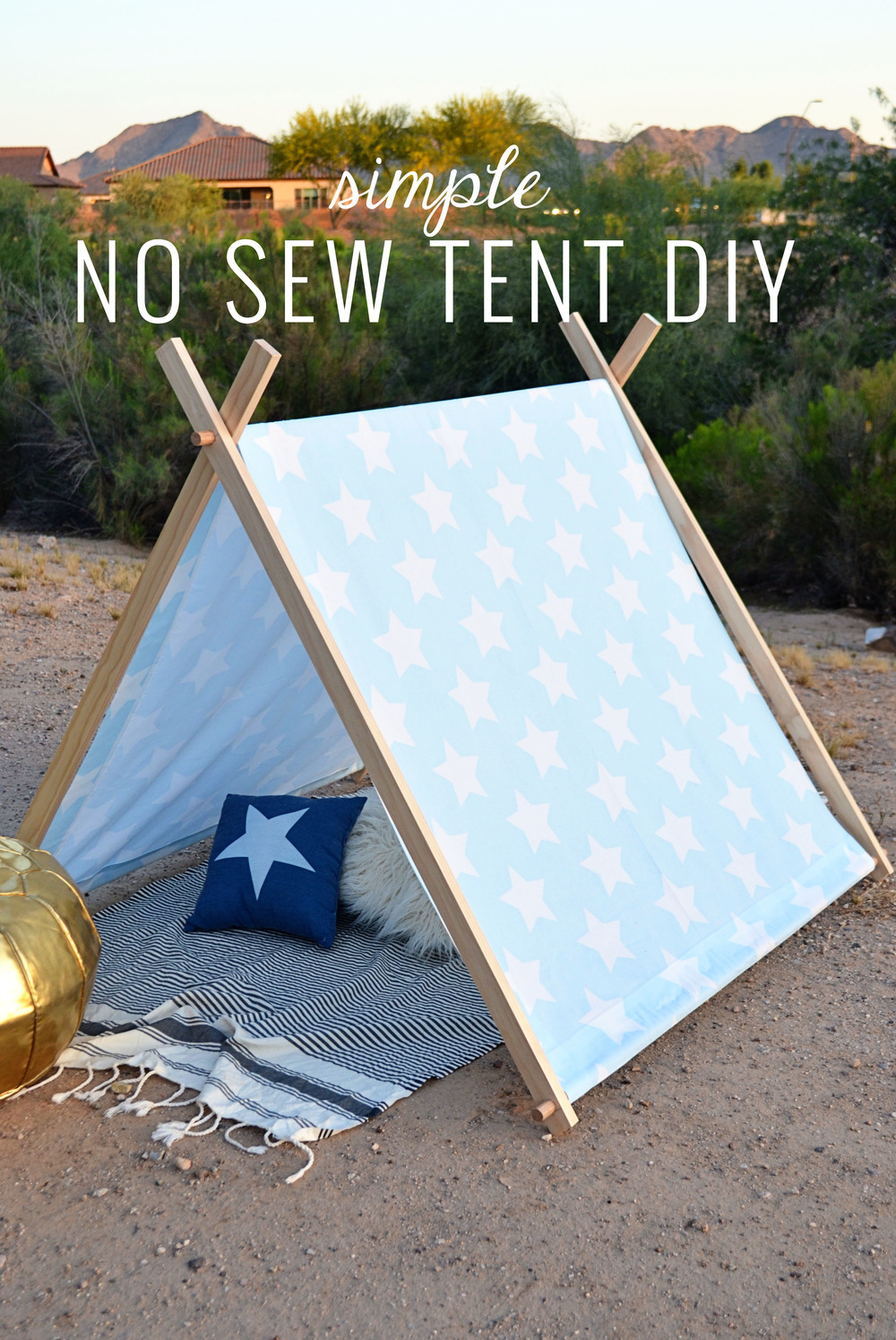 Simple No Sew Kids Tent DIY Momma Society