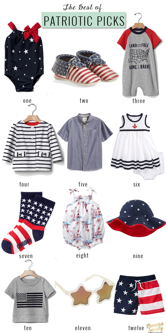 4th of July Patriotic Picks for The Littles | Momma Society-The Community of Modern Moms | www.mommasociety.com