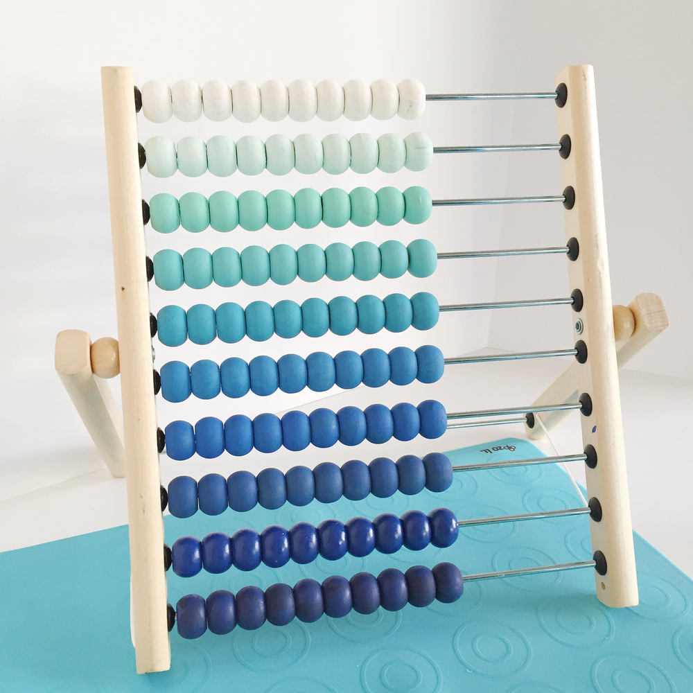 DIY Ombred Painted Ikeas Abacus Hack | Momma Society-The Community of Modern Moms | www.MommaSociety.com | Join our Party on Instagram @MommaSociety