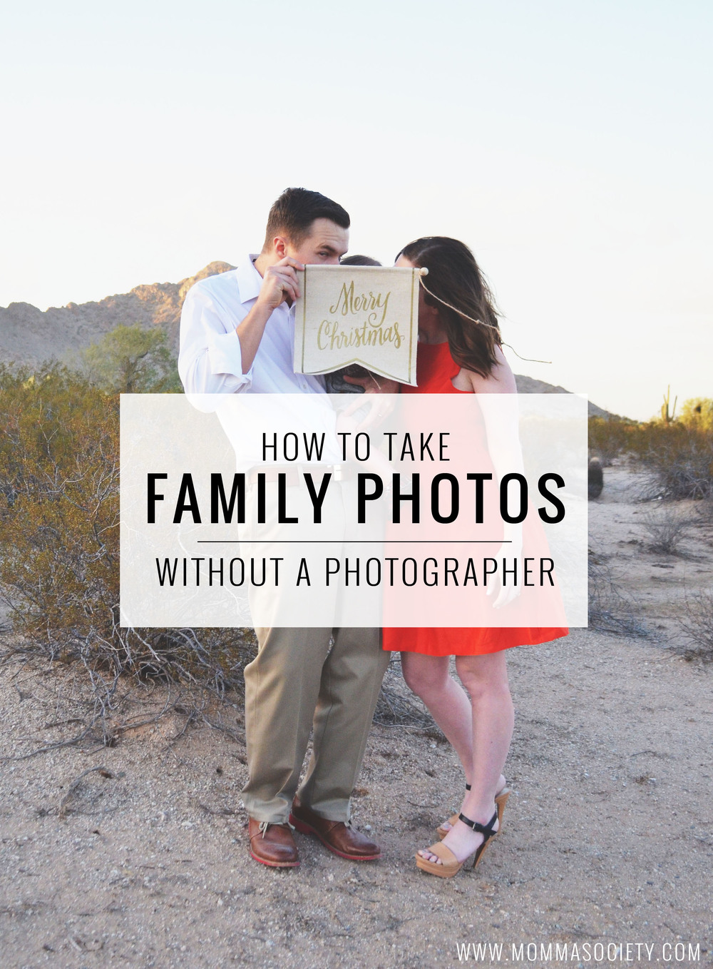 How to take your own holiday family photos without a photographer | Momma Society-The Community of Modern Moms | www.MommaSociety.com