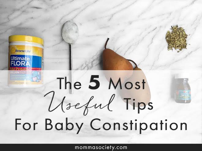 The 4 Mose Useful Tips for Reliving Baby Constipation | Momma Society-The Community of Modern Moms | www.MommaSociety.com