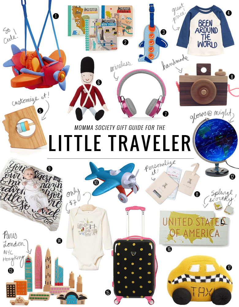 Gift Ideas for The Little Traveler Baby & Toddler | Momma Society-The Community of Modern Moms | www.MommaSociety.com
