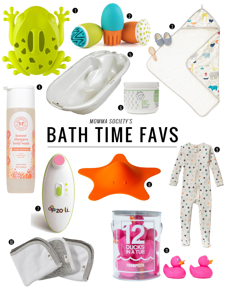 Bath Time Favorites for Baby | Momma Society- The Community of Modern Moms | www.MommaSociety.com
