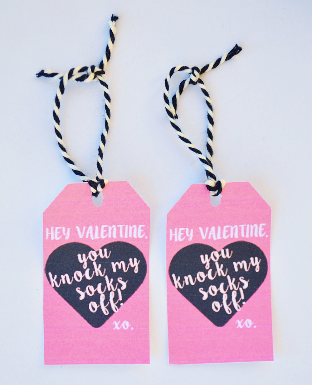 Valentines Day Knock My Socks Off Sock Printable | Momma Society-The Community of Modern Moms