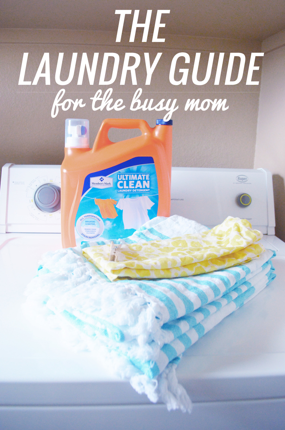 A Simple Laundry Routine for Busy Moms | Momma Society-The Community of Modern Moms | www.MommaSociety.com