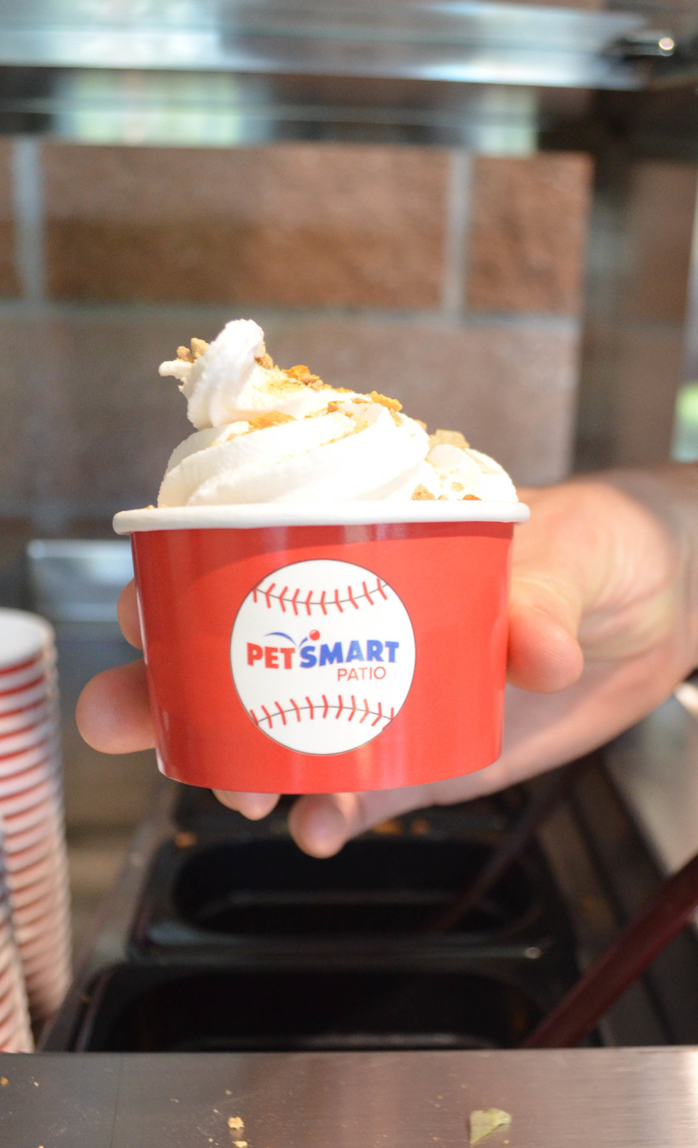 Dog Ice Cream at PetSmart Patio