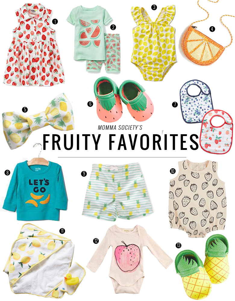Fruit Inspried Clothes for Baby + Toddler for Summer | Momma Society-The Community of Modern Moms | www.MommaSociety.com
