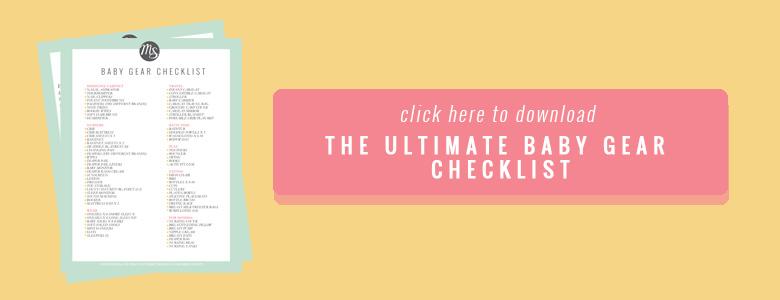 Baby Gear Checklist