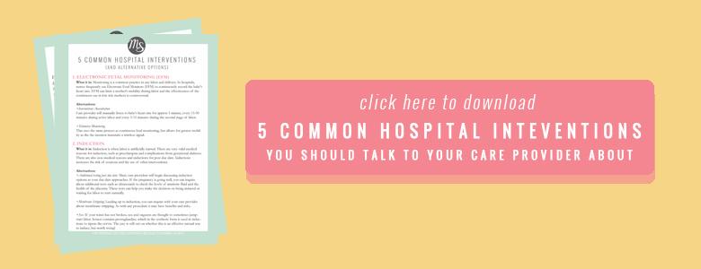 Hospital interventions Free printable cheatsheet